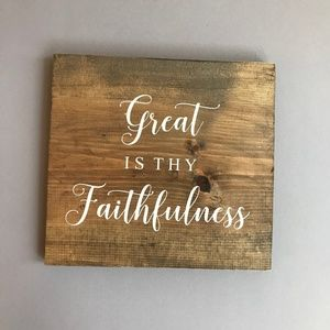 Great Is Thy Faithfulness Wall Hanging
